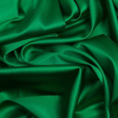 Kelly Green Stretch Silk Charmeuse