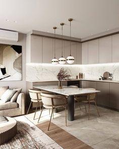 Modern Kitchen Interiors, Modern Kitchen Design, Interior Design Kitchen, Kitchen Pantry Design, Home Decor Kitchen, Home Kitchens, Room Kitchen, Kitchen Cabinets, Home Room Design