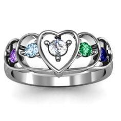 Heart Collage Ring #jewlr