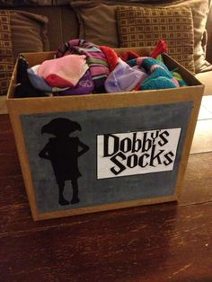 Mismatched Sock Bin! Harry Potter Style.-change to house elf donations and turn into a laundry bin?