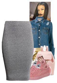 """Untitled #1561"" by toniiiiiiiiiiiiiii ❤ liked on Polyvore featuring Moschino, Nixon, Mansur Gavriel, MICHAEL Michael Kors, Thom Browne and H&M"