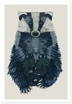Mesmerizing badger world by Claire Scully (www.thequietrevolution.co.uk)