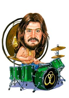 Memorabilia Led Zeppelin John Bonham Caricature Hard Rock Sticker Or Magnet John Bonham, Heavy Metal, Robert Plant, Led Zeppelin Art, Celebrity Caricatures, Funny Caricatures, Celebrity Drawings, Jimmy Page, Rock Legends