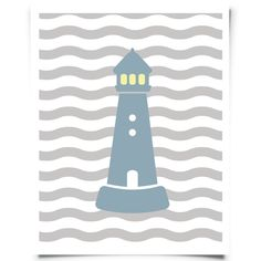 Lighthouse Free Printable - Wavy