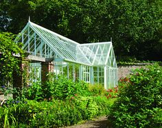 Custom made greenhouse with large Portico