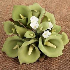 Large Calla Lily Cake Topper - Green