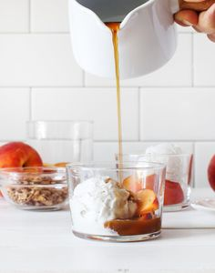 Peach Affogato