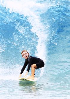 You're never to young to surf