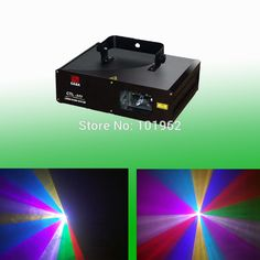 370.00$  Buy here - http://alivae.worldwells.pw/go.php?t=1797363570 - Hot 2W RGB Full Mix Color Projector DJ Disco Light Stage DMX Party Laser Lighting Show 370.00$