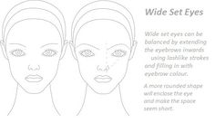 Wide Set Eyes or Far Apart Eyes - How you should shape your eyebrows Cat Eye Makeup, Eye Makeup Tips, Eyebrow Makeup, Eyebrow Tips, Makeup Tricks, Makeup Ideas, Face Makeup, Eyes Close Together, Sparse Eyebrows