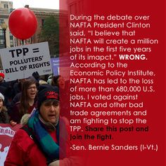 TPP is NOT a good deal.  #BernieSanders, He also needs to stop Obama and the Republicans Pacific rim deal.