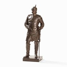 Monumentale Skulptur, Otto von Bismarck, Deutschland, um 1900 Metallguss, braun patiniertBerlin/Deut