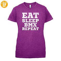 Eat Sleep BMX Repeat - Damen T-Shirt - Beere - XXL (*Partner-Link)