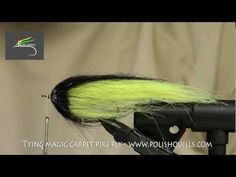 ▶ Tying Magic Carpet pike fly - www.polishquills.com - YouTube
