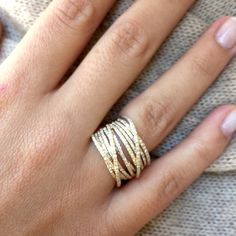 Bella Madre Micro Pave Collection Such a gorgeous collection of stacked rings
