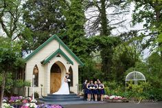 the glorious wedding chapel at Bramleigh within the gardens