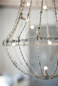 barbed chandelier