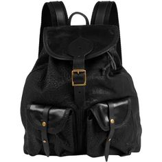 Jas MB Black Leather Rucksack ($425) ❤ liked on Polyvore featuring bags, backpacks, accessories, bolsas, purses, women, pocket backpack, studded leather backpack, real leather backpack and studded bag
