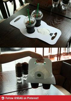 Clever idea for coffee or drinks