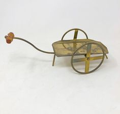 Vintage 1970s solid brass Asian cart Solid Brass, 1970s, Cart, Bamboo, Carving, Asian, Vintage, Joinery, Wood Carving