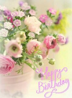 Bilderesultat for happy birthday flowers Happy Birthday Flower, Happy Birthday Images, Happy Birthday Greetings, Birthday Pictures, Birthday Messages, Birthday Quotes, Birthday Fun, Birthday Cake, Deco Floral
