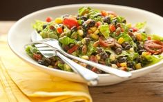 Black Bean Salad with Avocado-Lime Dressing