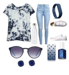 """""""Untitled #254"""" by sofieb02 on Polyvore featuring Current/Elliott, H&M, Converse, S'well, Fitbit, Essie, Kate Spade and X-Ray"""