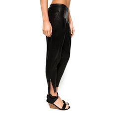 Elixir 3/4 LeatherHarem Pants | Boho Clothing - Lokoa Leather #gypsy #boho #style
