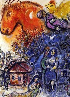 Marc Chagall.  See The Virtual Artist gallery: www.theartistobjective.com/gallery/index.html