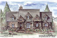 Creek Falls Cottage House Plan, 07431, Front Elevation, Mountain Style House Plans, Craftsman Style House Plans