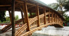 Ponte de bambu na Indonésia demonstra alternativas sustentáveis para infraestruturas, © Andrea Fitrianto