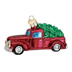 Amazon.com: Old World Christmas Truck with Tree Glass Blown Ornament: Home & Kitchen