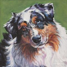 Australian Shepherd Painting  --  by Lee Ann Shepard