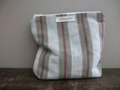 Striped Colourful Boho Makeup Bag by HASinspiration on Etsy, $18.00