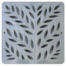 "NDS Square Decorative Botanical Grate for 12"""" Basin - Gray (Box of 8)"