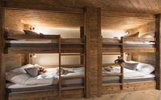 VOLPINA Luxury Ski Chalet, Chalet Mckinley, Zermatt, Switzerland, Switzerland (photo How Ozon Cabin Bunk Beds, Bunk Bed Rooms, Bunk Beds Built In, Chalet Design, Chalet Style, Chalet Interior, Ski Chalet Decor, Cabin Interiors, Swiss Alps