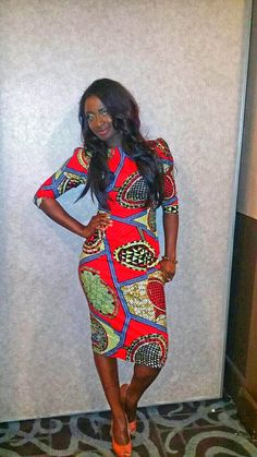 Takyiwa African Print Pencil Fitted Dress. Featured at the Live Out Loud Charity…