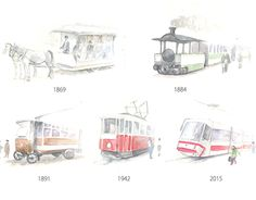 """Check out new work on my @Behance portfolio: """"Tramways through history"""" http://be.net/gallery/31437843/Tramways-through-history"""