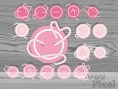 Cute as a Button pink buttons clip art set  Sewing by ArigigiPixel