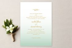 Simple Knot Wedding Invitations by SimpleTe Design at minted.com