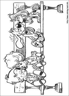 Boule & Bill coloring page • Mature Colors
