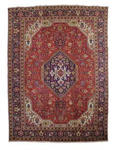 TRADITIONAL PERSIAN TABRIZ RUG  290 cm x 390 cm
