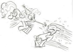 Pinkie Pie Surprise Sketch by Lauren Faust