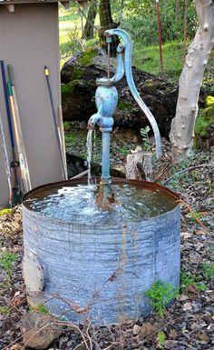 Brunnen in trichter form auf kiesbeet wasser pinterest for Liegewiese selber bauen
