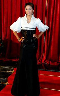 Ziana Zain top Malaysia Diva wears PB corsette