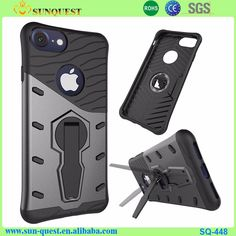 For iPhone 7 Stand Case Combo Hybrid PC TPU Case for iPhone 7
