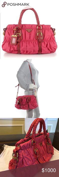 Prada Tessuto Gaufre  Pink Nylon Satchel This beautiful Prada purse should  be in everyone s closet 845b7814fd73a