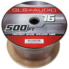 """GLS Audio Premium 16 Gauge 500 Feet Speaker Wire - True 16AWG Speaker Cable 500ft Clear Jacket - High Quality 500' Spool Roll 16G 12/2 Bulk by GLS Audio. Save 65 Off!. $69.99. GLS Audio speaker wire is manufactured with the highest grade materials in the industry. The copper wire is rated in AWG spec which stands for """"American Wire Gauge"""". The AWG rating was developed by the USA as a result of some wire manufacturers stating their wire was a certain spec when it really wasn't. You'l..."""