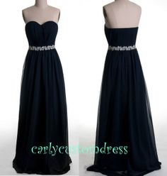 New Arrival A-line Sweetheart Sleeveless Floor-length Chiffon Fashion Cheap Prom Dress / Evening Dress 2014 With Sashes Beading Mint Bridesmaid Dresses, Grad Dresses, Prom Dresses Blue, Homecoming Dresses, Pretty Dresses, Homecoming Ideas, Formal Dresses 2014, Casual Dresses, Navy Blue Prom Dress Long