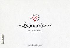 Hand Drawn Style Heart Logo Design by Daily Logo Design, The Paris Studio #LogoDesign #EtsyShop Branding #Wordpress #Website Header Blog Logo #boutique #Branding #restaurant #photography logo design